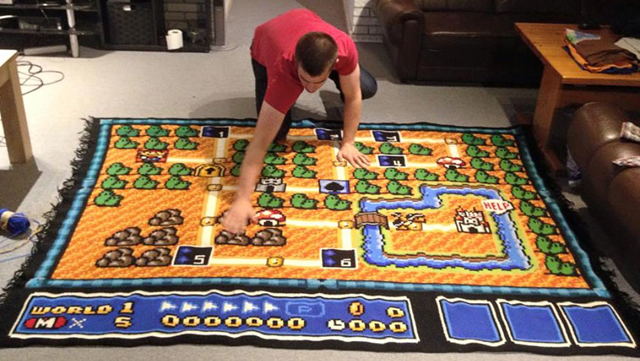 Kjetil Nordon Crochets Super Mario Bros 3 Map Source NRK