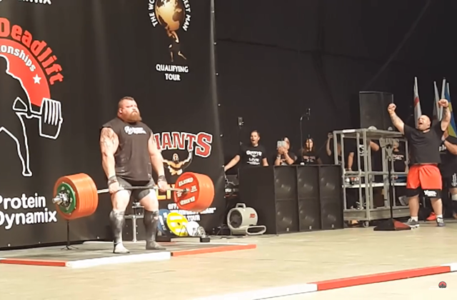 Eddie Hall Breaks World Record with 500kg Deadlift Image Credit Official Strongman