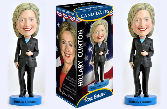 Hillary Clinton Nods so Much she gets Turned into a Bobblehead Doll Image Credit Royal Bobbles
