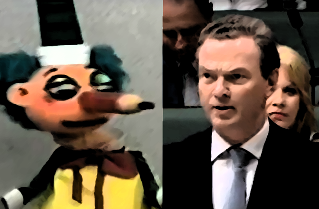 How much does Christopher Pyne remind you of Mr Squiggle