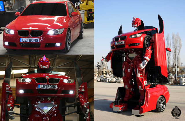 Letrons are BMW Cars which Transform into Real Robots Image Credit Letvision Letrons