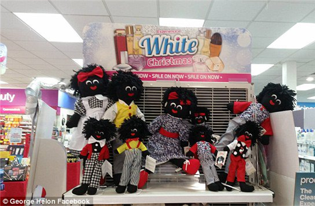 Golliwogs and White Christmas Display Sparks Racism Debate Image Credit George Helon